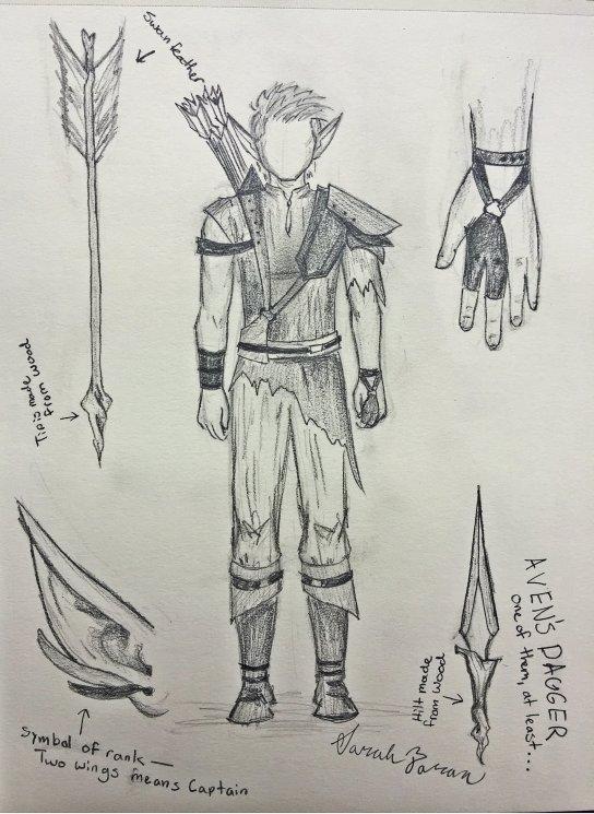 Aven costume concept