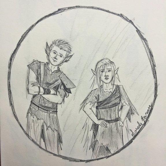 Liriel and Aven sketch