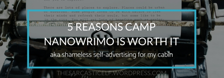 5 Reasons Camp NaNoWriMo is Worth It // aka shameless self-advertising for my cabin
